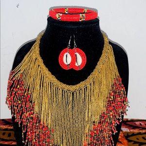 Necklace, bracelet, earrings set